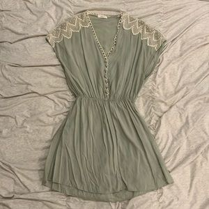 Beautiful sage vintage dress